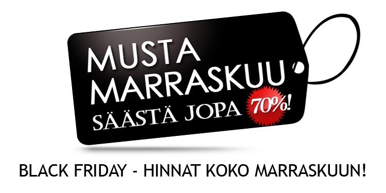 MUSTA MARRASKUU - BLACK FRIDAY -HINNAT KOKO KUUN AJAN